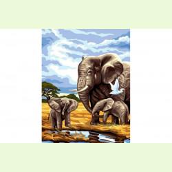 Семья слонов
