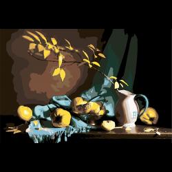 Осенний натюрморт с айвой