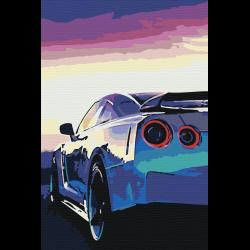 Авто на закате