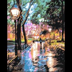 В парке под дождём