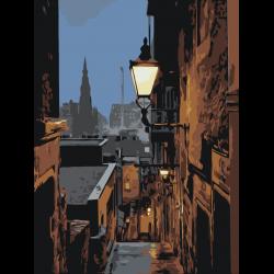 Фонарь в переулке