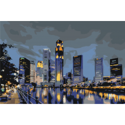Набережная мегаполиса