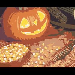 Картина по номерам к празднику Хэллоуин