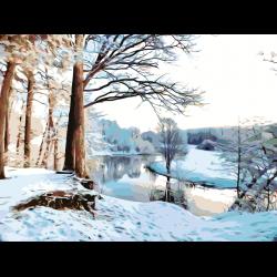 Картина по номерам - Зимняя река