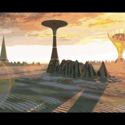 Картина по номерам - Инопланетный город