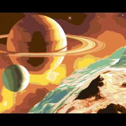 Картина по номерам - Сатурн