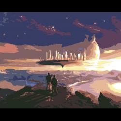Картина по номерам - Парящий город