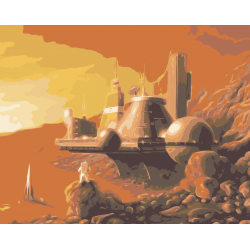 Картина по номерам - Марсианская станция