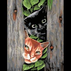 Картина по номерам - Любопытные котята