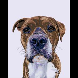 Картина по номерам - Добрый пес