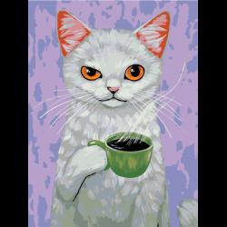 Белый кот - черный кофе