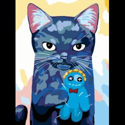 Картина по номерам - Коварный кот