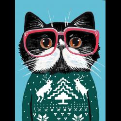 Картина по номерам - кот в свитере