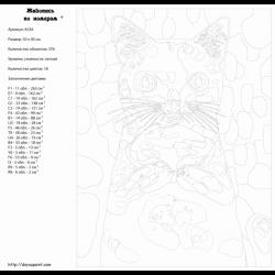 Картина по номерам - Кот в муке