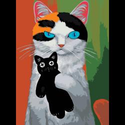 Картина по номерам - Дерзкий кот