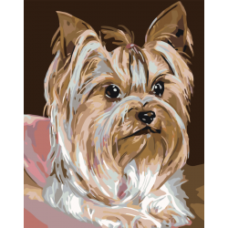 Картина по номерам - Маленькая собачка