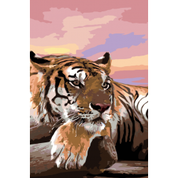 Тигр и закат