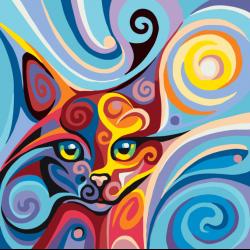 Абстракция Кошка