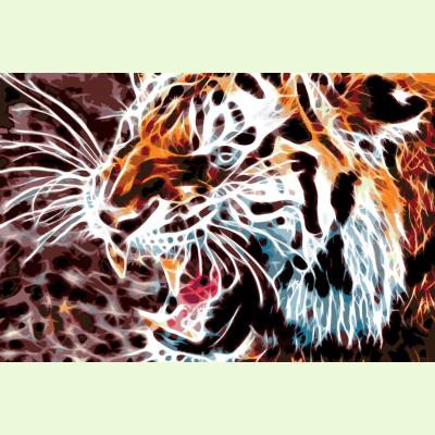 Тигр абстракция