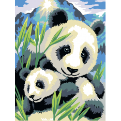 Картина по номерам - Забавные Панды