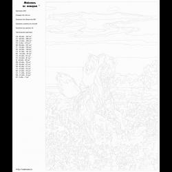 Картина по номерам - Лошадь на поле
