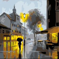 Улица с фонарями
