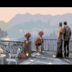 Картина по номерам - Вид с балкона