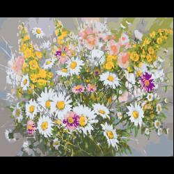 Картина по номерам, 40 x 50, ANNA-Romashki001