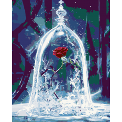 Картина по номерам - Роза в фужере