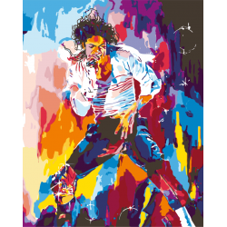 Картина по номерам - Майкл Джексон