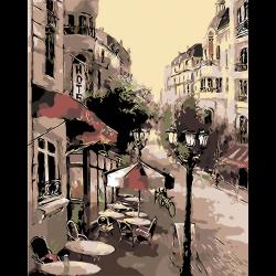 Картина по номерам - Городское кафе