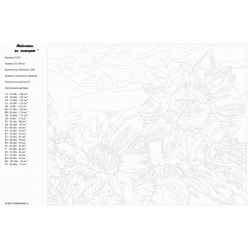 Картина по номерам - Подсолнухи
