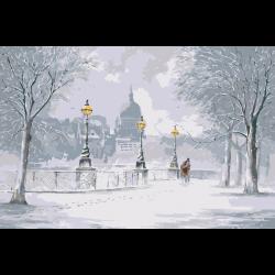 Картина по номерам - Зимний парк