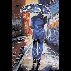 Картина по номерам - Дождливый город