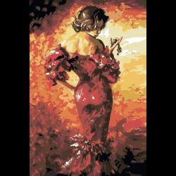 Картина по номерам - Изящная женщина