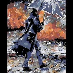 Картина по номерам - Дождь осенью в городе