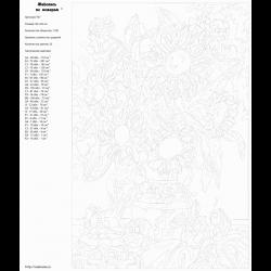Картина по номерам - Подсолнухи в вазе