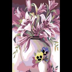 Картина по номерам - Розовые лилии