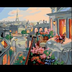Картина по номерам - Кафе на балкончике