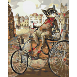 Картина по номерам - Кот в карете