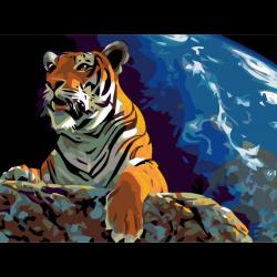 Тигр на камне