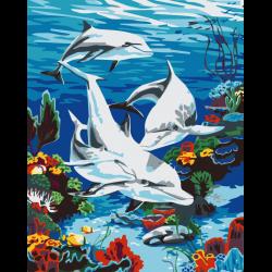 Картина по номерам - Дельфины