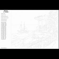Картина по номерам - Беседка у моря