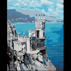 Картина по номерам - Замок на скале