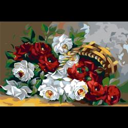 Картина по номерам - Карзина с цветами
