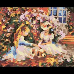 Девочки в саду