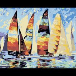 Картина по номерам - Лодки