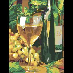 Натюрморт с бокалом белого вина