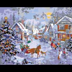Картина по номерам, Рождество