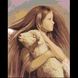 Девочка с барашком